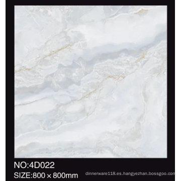 3D digital chorro de tinta 600x600mm pulido completo mármol mira brillante azulejo de porcelana