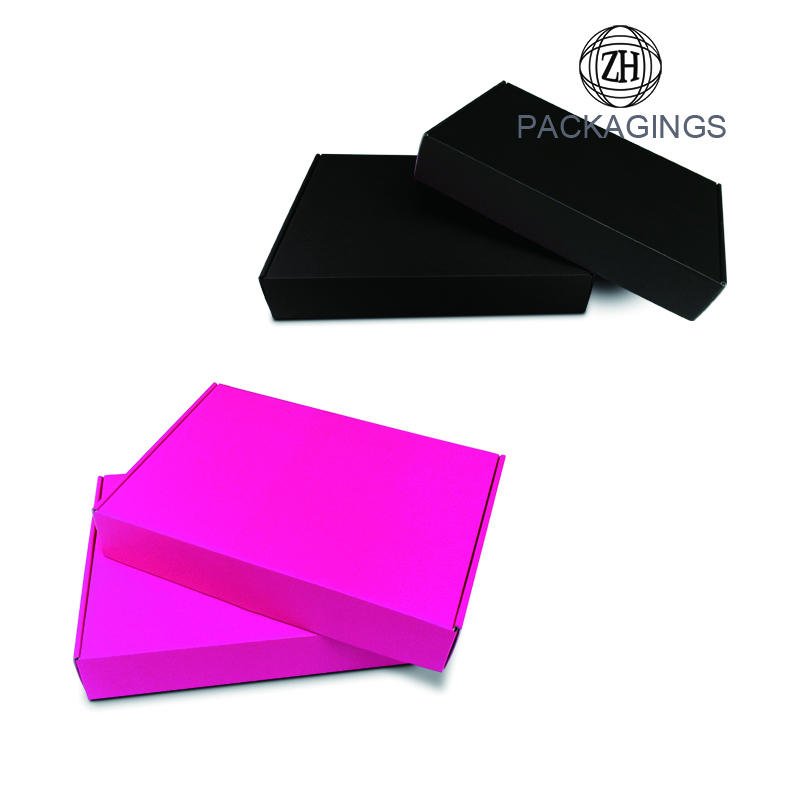 1 color printing matte finish shipping box