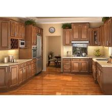 Gabinete de cozinha em madeira maciça de forma quente em forma de U