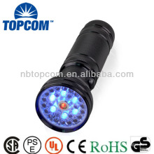 Colorful led flashlight with compass