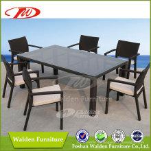 Открытый плетеный стол и стул (DH-6123)