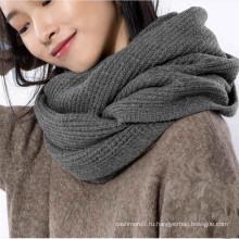 мода женщин шерсть кашемир смешанные трикотажные петли шарф