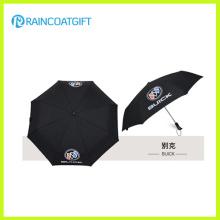 Auto promotion ouverte et fermer 3 pli, parapluie