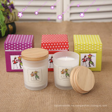 Venta al por mayor reciclada nueva vela perfumada del regalo de Cardborad
