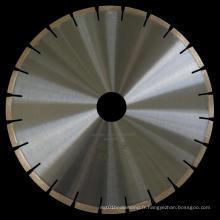 Lame de scie à diamant brasé argenté de 350 mm pour la pierre de coupe