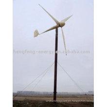 Nuevo viento pequeño turbina 300w/400w/600w/1kw/2kw/5kw/10kw/20kw/25kw/30kw