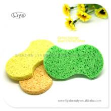 Esponja de celulosa cosméticos diseño especial limpieza esponja de celulosa