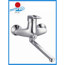 Brass Chrome Kitchen Faucet Single Handle Water Tap Mixer (ZR21103-A)