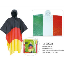 Germany flag pvc rain poncho