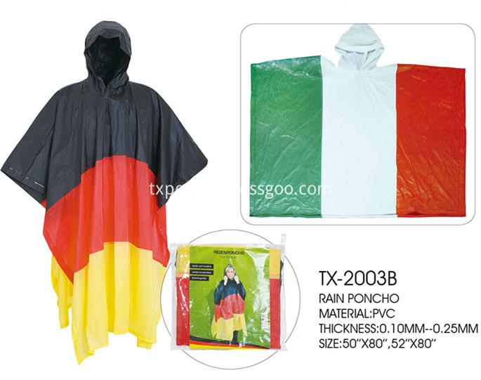 Germany rain poncho