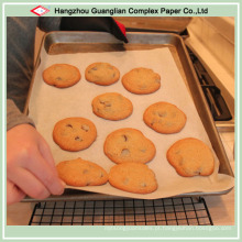 Papel de padaria de alimentos cozidos com revestimento de silicone
