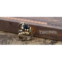 Fashion Black Schmuck Ring Charm Kupfer Farbe Tiermodellierung