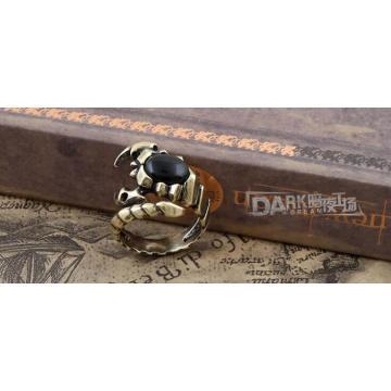 Anillo de joyería de moda negro Charm Color de cobre Animal Modeling
