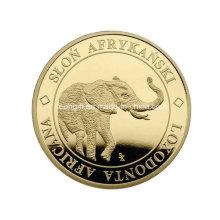 Grabado al agua fuerte elefante barato desafío personalización de moneda