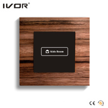 1 Gang Lighting Switch Touch Panel Wood Material Outline Frame (HR1000-WD-L1)