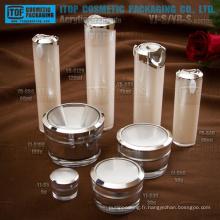 Principaux produits cosmétiques haut de gamme de grande qualité OEM service d'emballage fourni bocal et bouteille cosmétique double couches