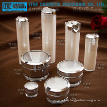 Main products cosmetics packaging high-end great quality OEM service provided double layers cosmetic bottle and jar