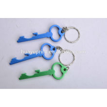 Key shaped aluminum bottle opener key ring