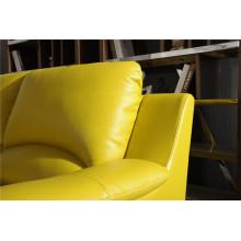 Sofá de sala de estar com sofá moderno de couro genuíno (421)