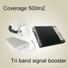 2g3g4g Signal Booster, 900 2100 2600MHz UHF Tri Band Verstärker RF Repeater Hochwertige RF Repeater Signal Booster