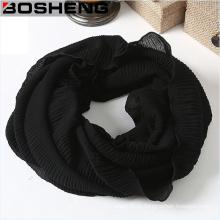 Elegante envoltório tecido macio tecidos infinito loop cachecol sem fim chiffon