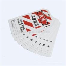 A utilisé les meilleures étiquettes de verrouillage en PVC réutilisables du PVC anti-dur et résistantes à l'encre