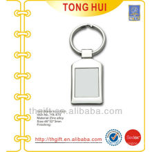 Porte-clés en carré en métal blanc
