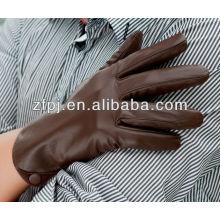 Piel de oveja de invierno de los hombres de color marrón guantes de cuero