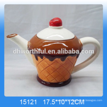 Decorative ice cream shaped ceramic personalized teapot for wholesale