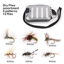 em estoque 6 paternos moscas secas moscas de pesca com mosca