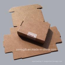 Boîte en papier en carton Kraft Marron Fabriqué à la main Emballage Falp