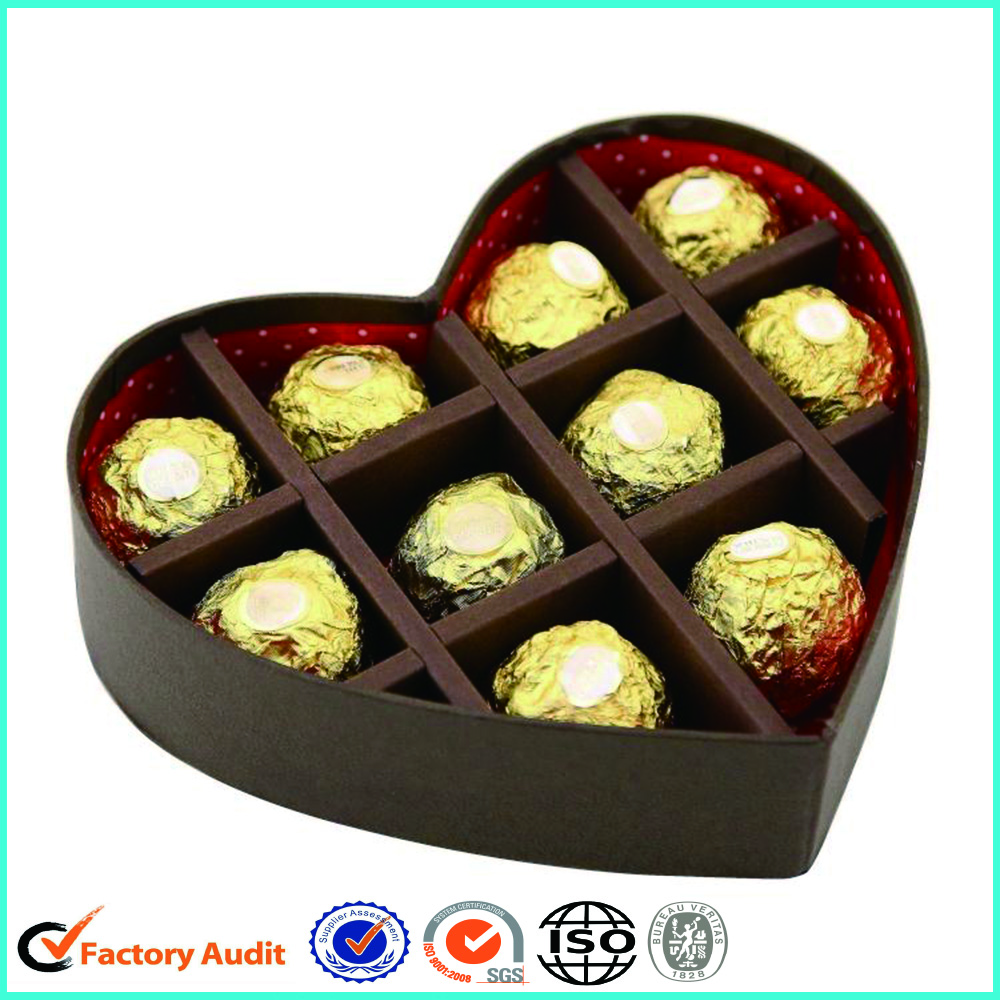 Empty Heart Shaped Chocolate Box Inserts