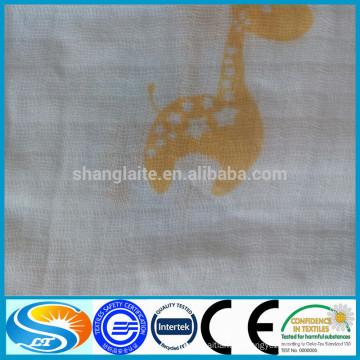 Proveedores de China tela impresa de muselina reactiva