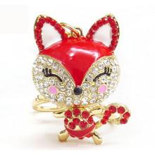 Chine en gros cristal animal kychain renard porte-clés pour cadeau d'anniversaire
