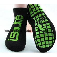 Anti Slip Trampoline Jump Chaussettes antidérapantes Yoga Pilates Chaussettes Qualité Choix