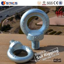 Sujetadores grandes plateados cinc de acero Perno de ojo DIN580
