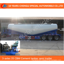 3-Axles 35 Cbm Cement Tanker Semi Trailer