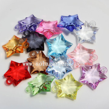 Clear Mixed Colors Loose Acrylic Plastic Star Beads Pendants