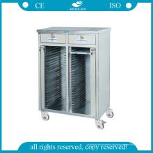 AG-Cht013 Ce Cart mit 48 Regalen für medizinische Rekordhalter