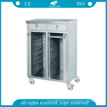 AG-Cht013 Ce Cart with 48 Shelves for Medical Record Holders