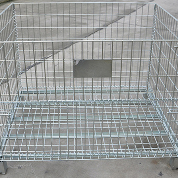 Galvanized Foldable Wire Mesh Metal Pallet Cage