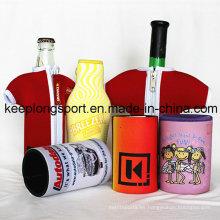 Enfriador de botella de neopreno de impresión de seda-pantalla personalizada