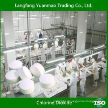 Dióxido de cloro para procesamiento de alimentos y acuicultura