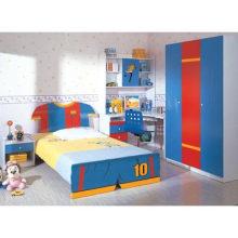 Meubles en bois colorés de chambre à coucher d'enfants de meubles de bébé d'enfants d'enfants (WJ277531)
