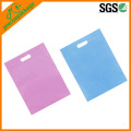 eco reusable PP woven packing shopping bag with die cut handle