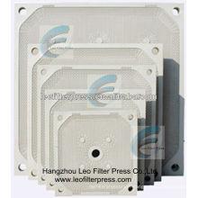 Plaque filtrante de membrane de pp de haute pression de presse de filtre de Leo pour la pièce de rechange de presse de filtre à membrane, plaque de presse de filtre de Leo