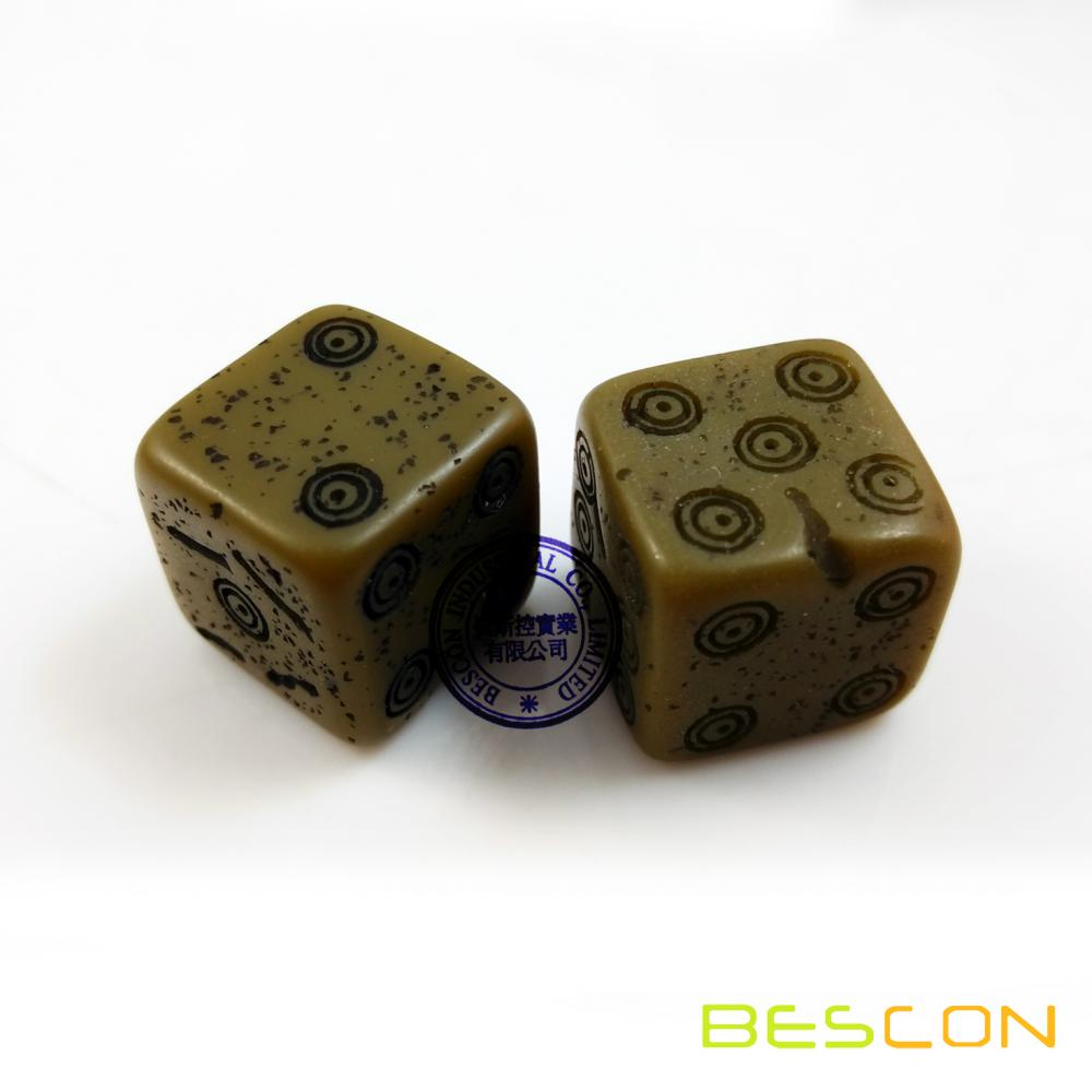 Novelty Old Looking Ancient Natural Stone Dice, Bone Dice