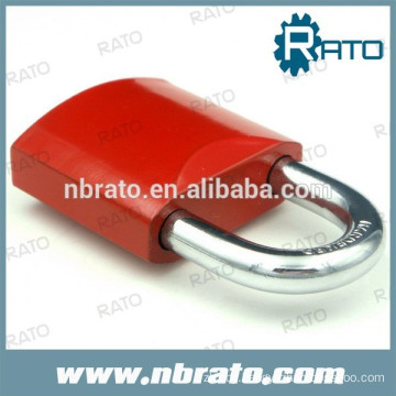 red paint colorful padlocks