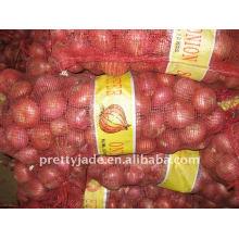 Oignon rouge fraîche chinois en sac en maille