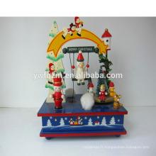 fournisseur en gros personnalisé en bois ornements de Noël
